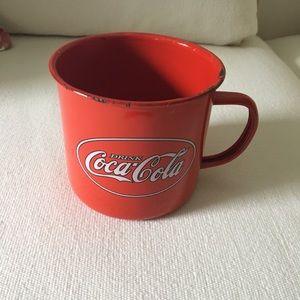 Coca Cola Tin Metal Mug (Coke Trademark)